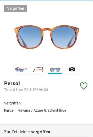 Persol Round Sunglasses cognac-coloured