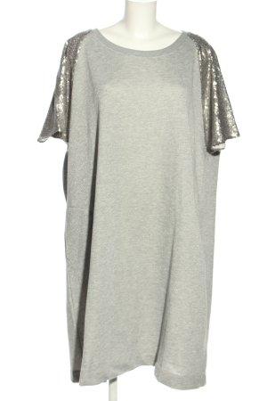 Persona by Marina Rinaldi Vestido de tela de sudadera gris claro-color plata