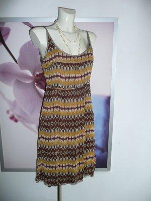 Personal Affairs Kleid Dress Trägerkleid Seide Zick Zack Muster 36-38