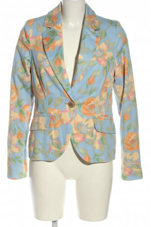 Personal Affairs Blazer corto blu-arancione chiaro stampa integrale elegante