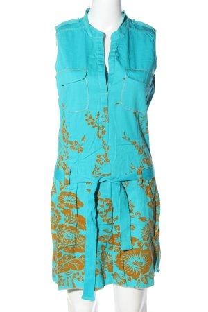 Personal Affairs Minikleid türkis-hellorange Blumenmuster Casual-Look