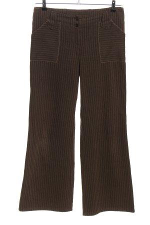 Personal Affairs Pantalone jersey marrone motivo a righe stile casual