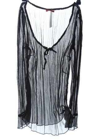 Personal Affairs Blusa trasparente nero modello web look trasparente