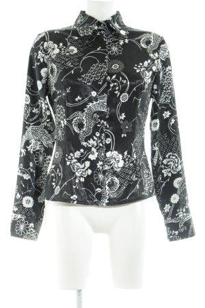 Perspective Hemd-Bluse schwarz-weiß abstraktes Muster Business-Look