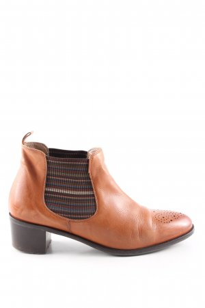 Pertini Ankle Boots hellorange Streifenmuster Casual-Look