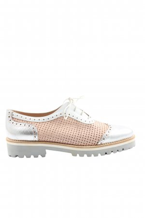 Pertini Wingtip Shoes silver-colored-pink casual look