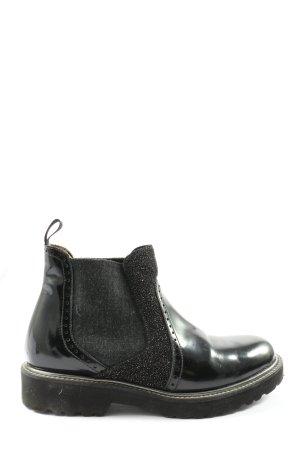 Pertini Chelsea Boots schwarz-hellgrau Casual-Look