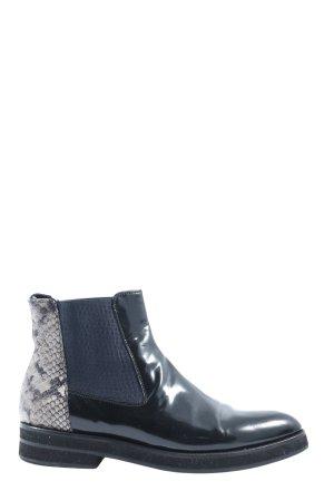 Pertini Chelsea Boots schwarz-hellgrau Animalmuster Casual-Look