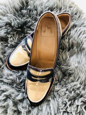 Pertini Pantofel beżowy-niebieski