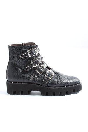 Pertini Reißverschluss-Stiefeletten schwarz Casual-Look