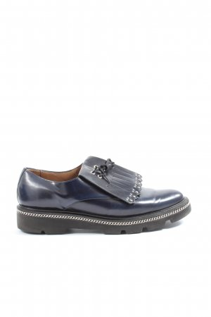 Pertini Mocasines azul look casual