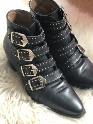 Pertini schwarze Stiefeletten mit Schnallen