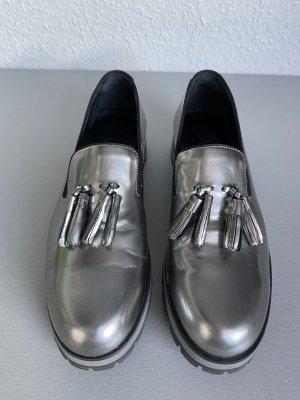 PERTINI Slipper Tassel Loafer Dandy Silber - 39,5
