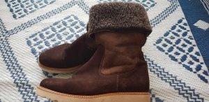 Pertini Fur Boots dark brown