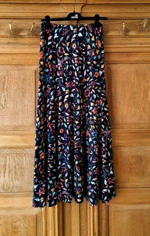 Peruvian Collection Maxirock Rock Kleid Muster Blumen Herbst bunt XS