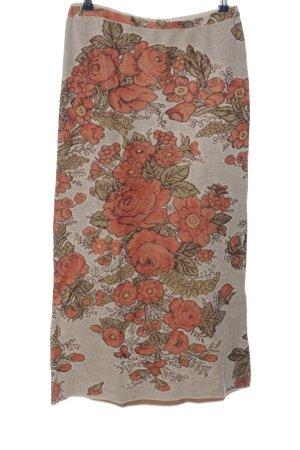 Peruvian Connection Jupe longue motif de fleur style décontracté