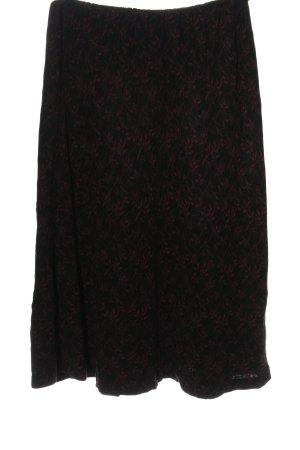 Peruvian Connection Strickrock schwarz-rot abstraktes Muster Elegant