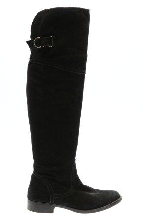 Pesaro Buty nad kolano czarny W stylu casual