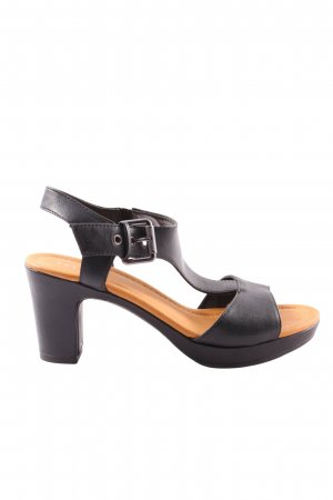 Pesaro Riemchen-Sandaletten schwarz Casual-Look