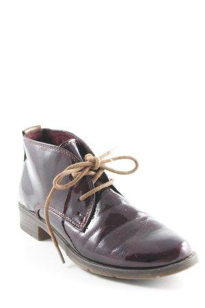 Pesaro Schnürschuhe purpur Vintage-Look