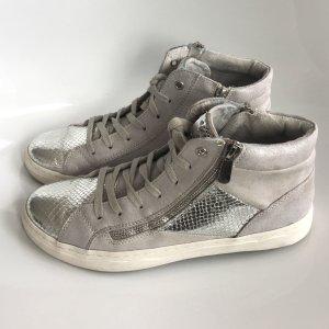 Pesaro Sneaker knöchelhoch, leichte Plateausohle, Halbschuhe, sportlich, silber/grau