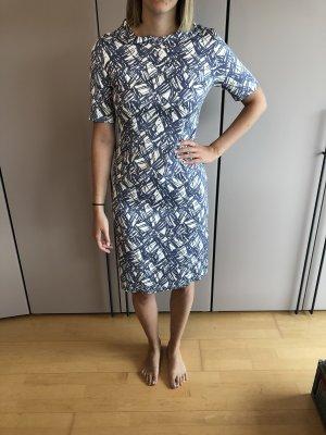 Peserico | Kleid blau weiß mit Ärmel