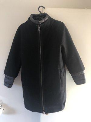 Peserico Oversized Coat black-anthracite