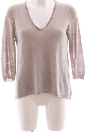 Peserico V-Ausschnitt-Pullover pink Casual-Look