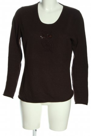 Peter Hahn Cashmere Jumper brown casual look