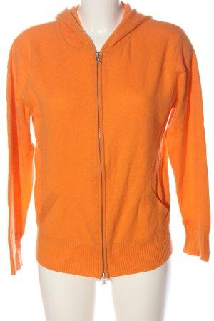Peter Hahn Kasjmier trui licht Oranje kabel steek casual uitstraling