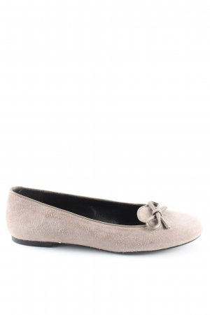 Peter Hahn faltbare Ballerinas wollweiß Casual-Look