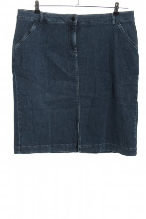 Peter Hahn Jeansrock blau Casual-Look