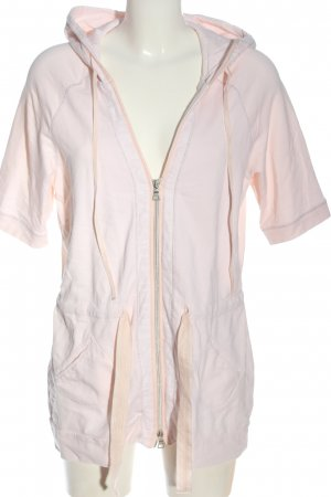 Peter Hahn Jersey con capucha rosa look casual
