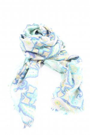 Peter Hahn Cashmere Scarf white-blue allover print casual look