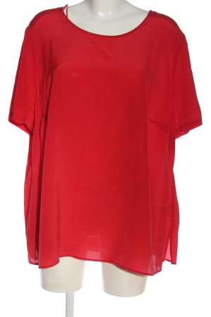 Peter Hahn Kurzarm-Bluse rot Casual-Look