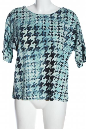 Peter Hahn Kurzarm-Bluse abstraktes Muster Casual-Look