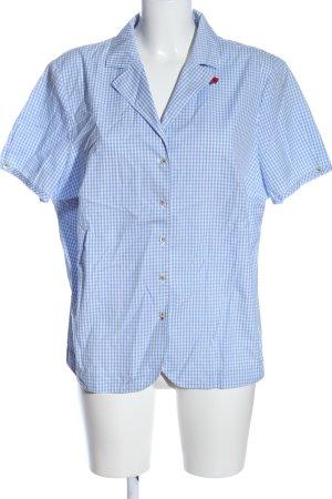 Peter Hahn Koszula z krótkim rękawem niebieski-biały Na całej powierzchni