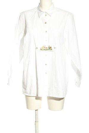 Peter Hahn Camicia a maniche lunghe bianco Stampa a tema stile casual