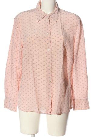 Peter Hahn Langarmhemd pink Allover-Druck Business-Look