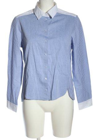 Peter Hahn Langarmhemd blau-weiß Streifenmuster Casual-Look