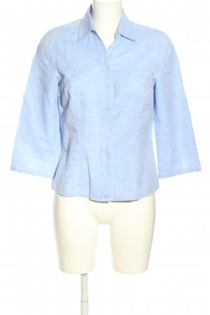 Peter Hahn Leinenbluse blau Casual-Look