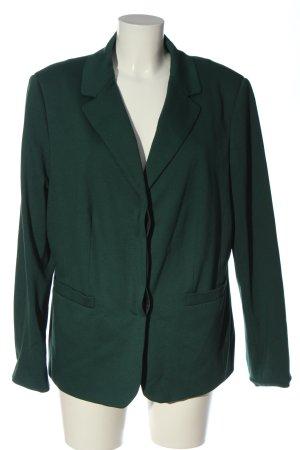Peter Hahn Lange blazer groen zakelijke stijl