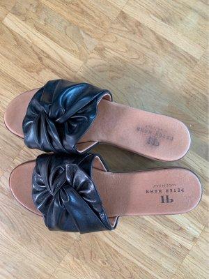 Peter Hahn Heel Pantolettes black-cognac-coloured