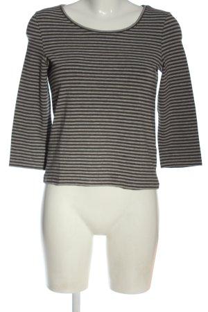Peter Hahn Koszulka w paski czarny-jasnoszary Melanżowy W stylu casual