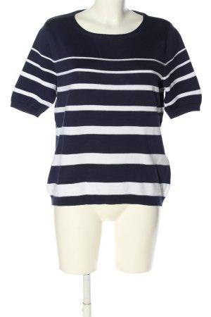Peter Hahn Stripe Shirt blue-white striped pattern casual look