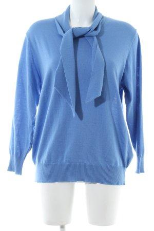 Peter Hahn Rundhalspullover blau Casual-Look
