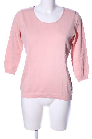 Peter Hahn Rundhalspullover pink Casual-Look