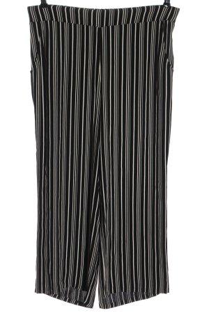 Peter Hahn Pantalone jersey nero-bianco motivo a righe elegante