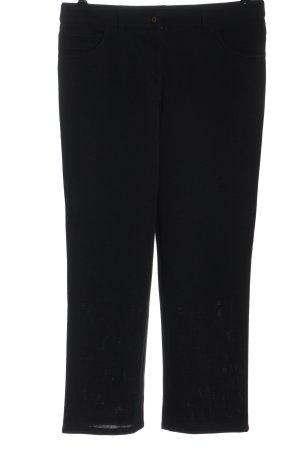 Peter Hahn Pantalone jersey nero stile casual