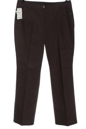 Peter Hahn Pantalone jersey marrone stile professionale